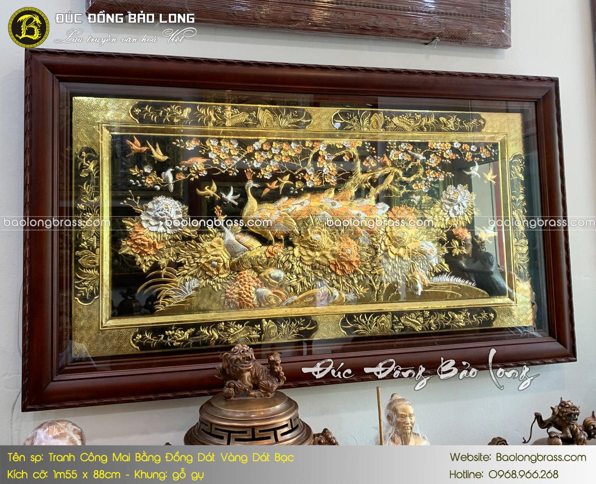 baolongbrass.com - giá tranh đồng dát vàng