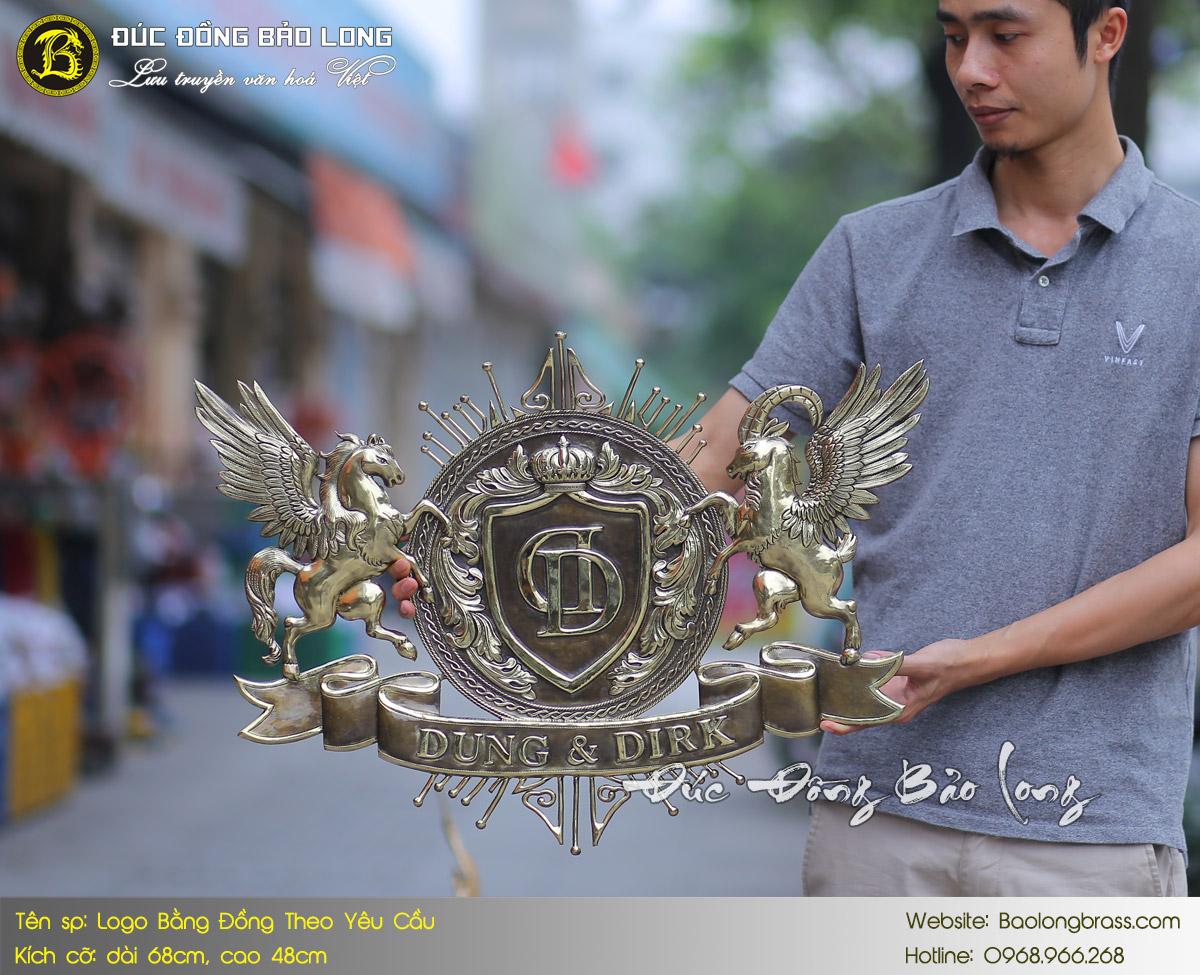 giá logo huy hiệu bằng đồng đúc đồng bảo long