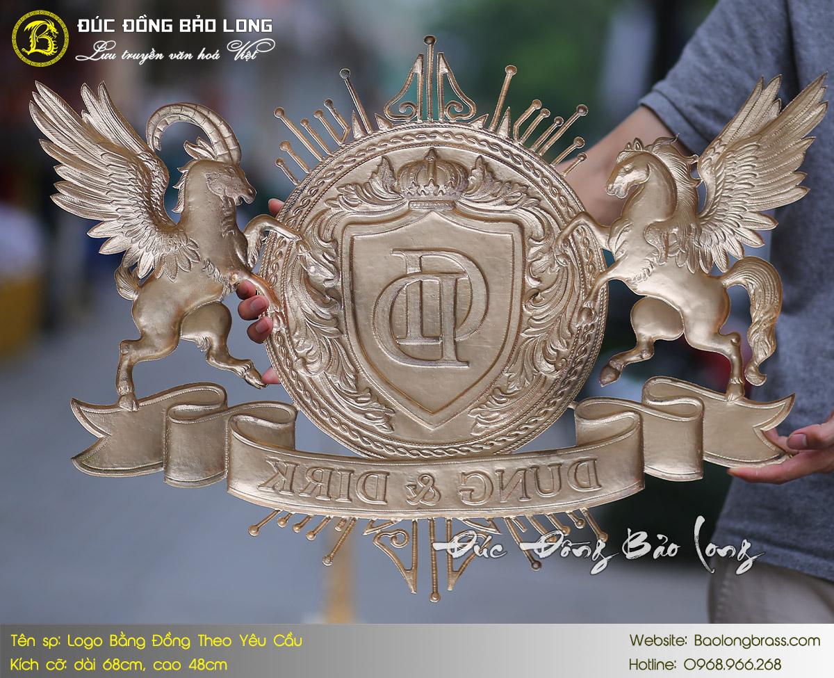 báo giá logo huy hiệu bằng đồng đúc đồng bảo long