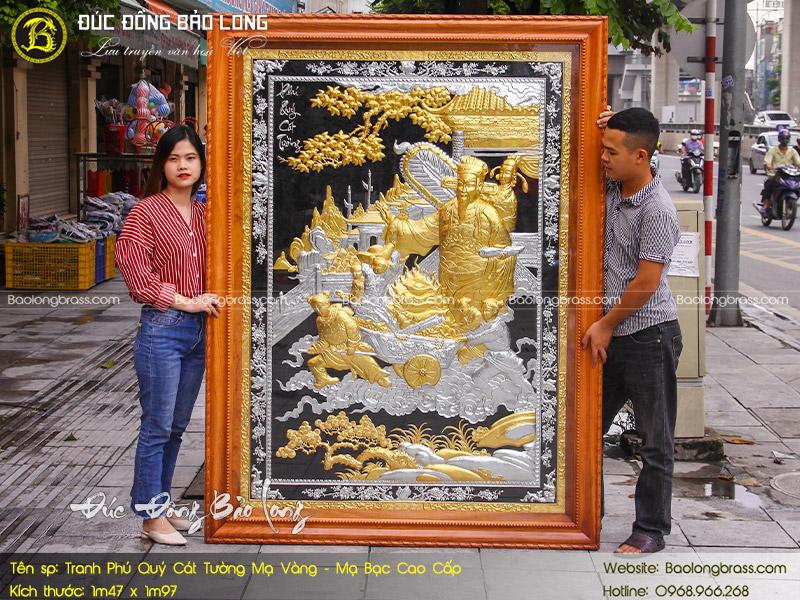 bán tranh dát vàng 9999